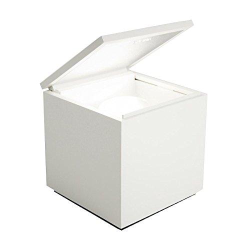 Cuboluce Nachttischleuchte, weiß LxBxH 10x10x11cm 1x LED E14 3W 260lm 2700K