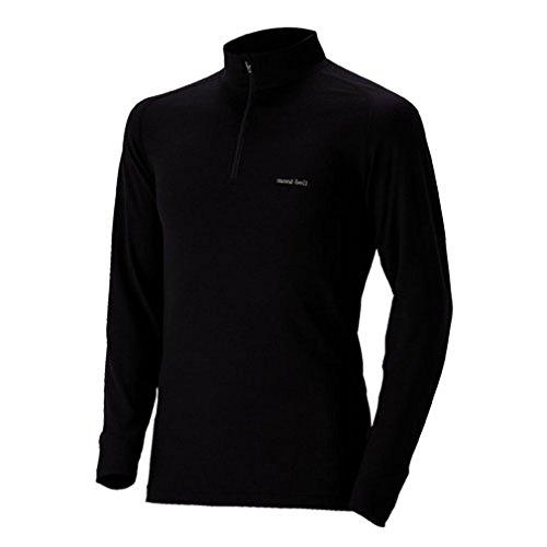 (モンベル)mont-bell スーパーメリノウールM.W.ハイネックシャツ Men's 1107238 BK ブラック S