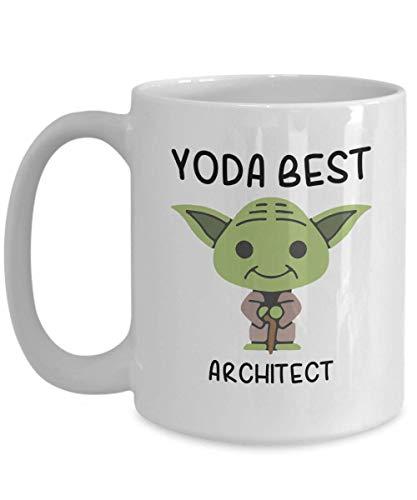 Yoda Best Architect Profession mug - Novelty Gift Mugs for Birthday Present, Anniversary, Valentines, Special Occasion, Christmas - 11oz Funny Coffee Mug