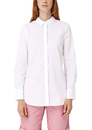s.Oliver Damen Bluse im cleanen Look White 46