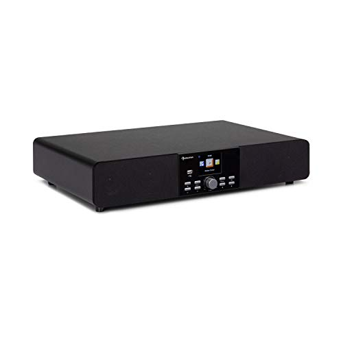 auna Stealth Base - Connect Soundbase, 2 x 15 W + 30 W RMS-Leistung, Internet/DAB+/FM Radio, Bluetooth-Funktion, AirMusic Control App, 2,8