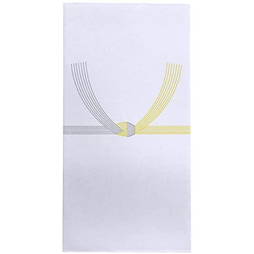 スズキ紙工 不祝儀袋 万型 黄水引 10枚入×10パック ス-3111