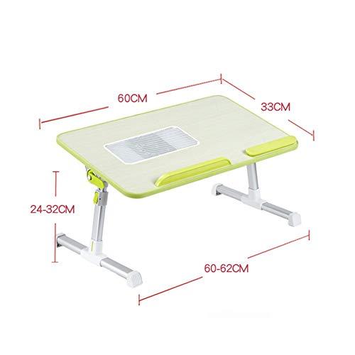 AI LI WEI levend kantoor/eenvoudige opbergtafel draagbare statafel laptopdesks multifunctioneel bureau bed eettafel picknick inklapbaar in hoogte verstelbaar 2 maten 5 kleuren (kleur: K ventilator)