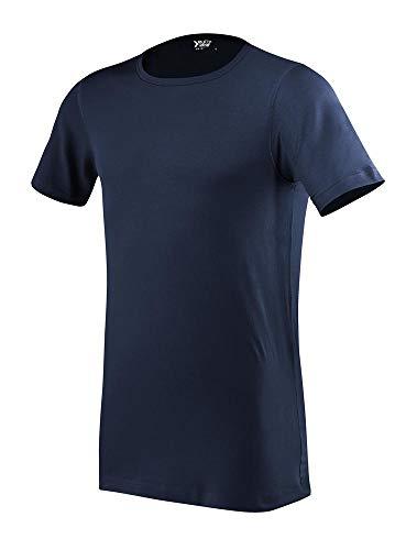 Eurowear Men Fitted T-Shirt Short Sleeve EM107 Blu Navy