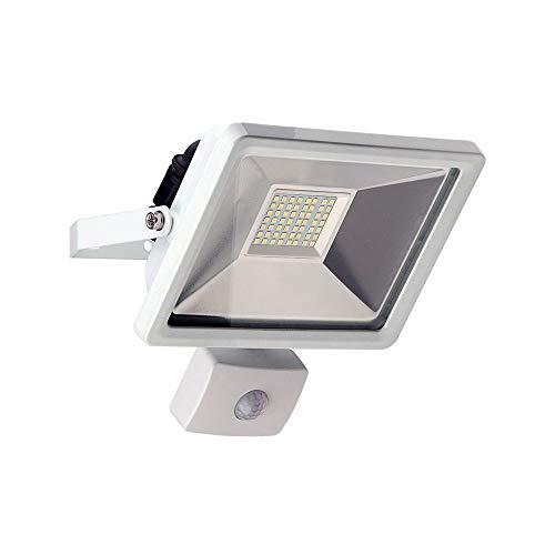 Goobay 30W LED Flutlicht mit Bewegungsmelder, Glas, Weiß