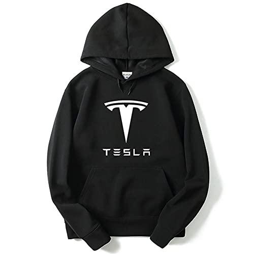 FXZFYYY Printemps Et Automne Nouvelle Veste À Capuche pour Hommes Tesla Sport Décontracté Mode Vêtements pour Hommes