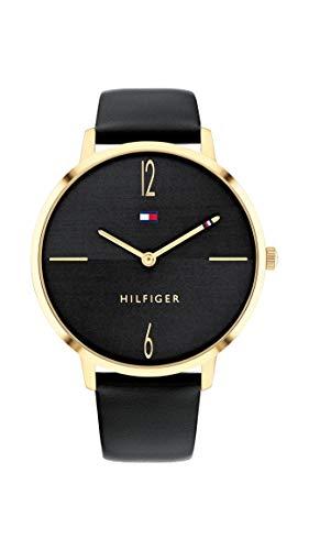 Tommy Hilfiger Damen Analog Quarz Uhr mit Leder Armband 1782379