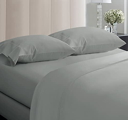 5-Star Hotel 600 Thread Count Best Bed Sheets, 100% Cotton Sheets Set for Queen Bed, Smoother Than Egyptian Cotton Claims, 4 Pc Set with Deep Pockets (Dark Grey)
