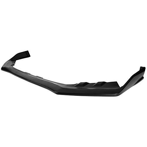 IKON MOTORSPORTS Front Bumper Lip Compatible With 2018-2019 Subaru WRX STI, S207 Style Black PU Front Lip Finisher Under Chin Spoiler Add On