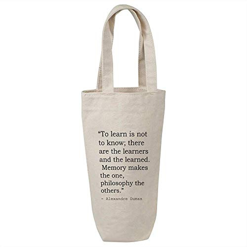 Education & Learning Quote By Alexandre Dumas Cotton Wine Bottle Gift /...