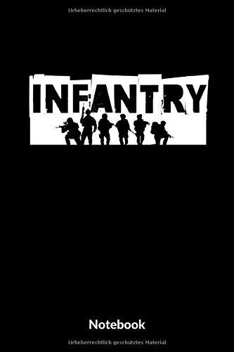 Infantry Notebook: A5 Kariertes Notizbuch für Soldaten der Bundeswehr! Als Geschenk zum Jahrestag, Valentinstag, Hochzeitstag oder Weihnachten