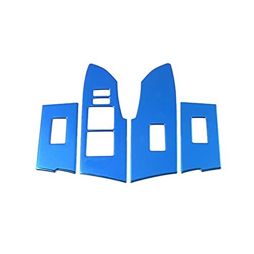 wuwu 4 unids LHD Azul Interior Puerta Reposabrazos Reproducción de la Ventana Cubierta de Interruptor de Interruptor Ajuste para Toyota Corolla 2014 2016 2017 2017 2017 2018