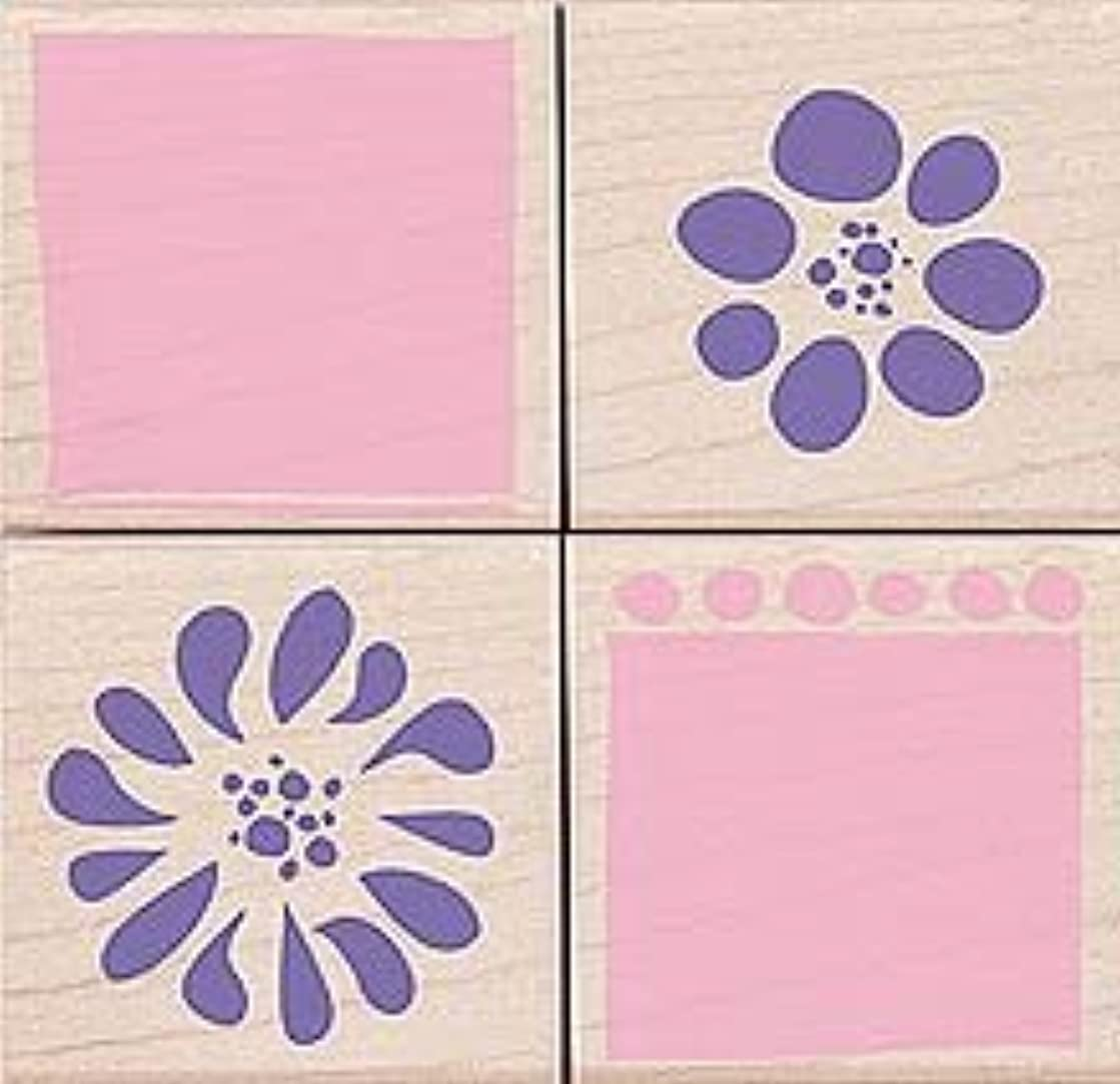 Petal Prints Wood Mounted Rubber Stamp Set (LL147)