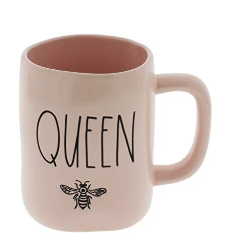 Rae Dunn by Magenta QUEEN BEE LL Pink Coffee Mug