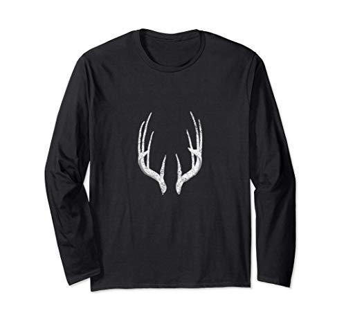 Deer Hunting Shed Antlers Design Long Sleeve T-Shirt