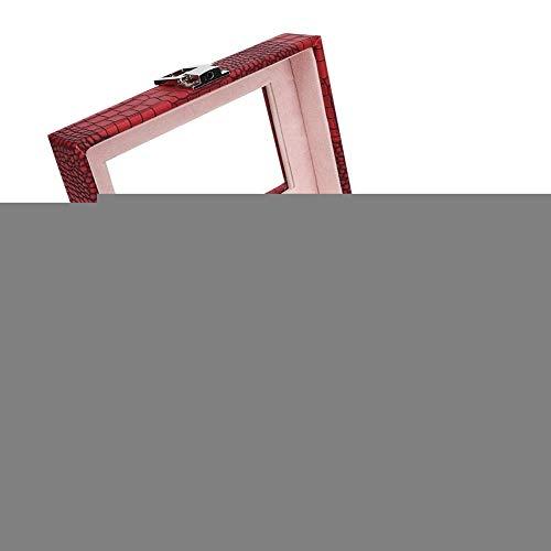 Joyero, Caja de presentación de Reloj, Soporte de Caja de Reloj 15.5 * 11 * 7.8 cm Caja de Almacenamiento de exhibición de Reloj portátil para Hombres y Mujeres (Rojo Vino)