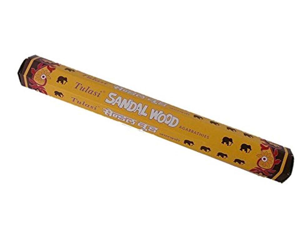 時期尚早なぞらえる煙突Tulasi(トゥラシ) お香:サンダルウッド スティックお香/インセンス/1箱