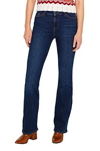 edc by ESPRIT Damen 079Cc1B019 Bootcut Jeans, Blau (Blue Dark Wash 901), W26/L32 (Herstellergröße: 26/32)