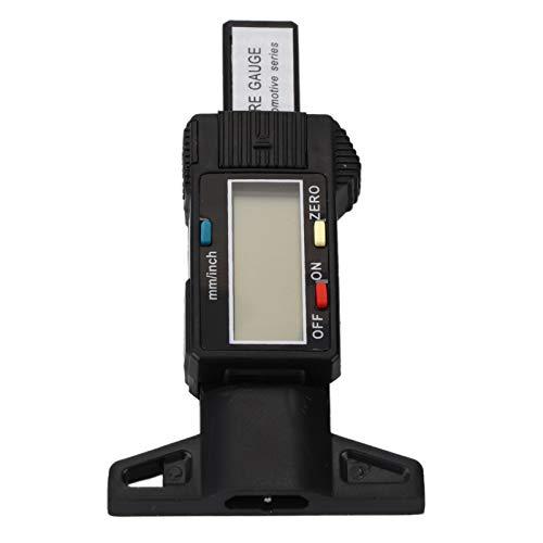 Medidor de Neumático de Coche, Yctze Calibre de Profundidad de Banda de Rodadura de Neumático Digital de Coche 0-25 4 Mm Herramienta de Medición Calibrador Pantalla LCD(negro)