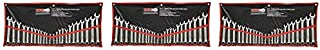 GRIP 89358 MM/SAE Combination Wrench Set, Chrome, 24-Piece (3)