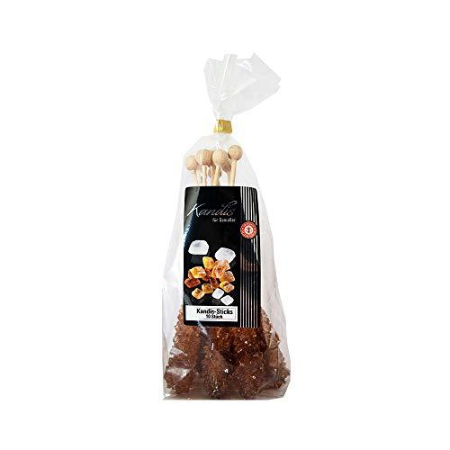 Kandis-Sticks braun - Sticks aus braunem Kandiszucker (10 Stück)