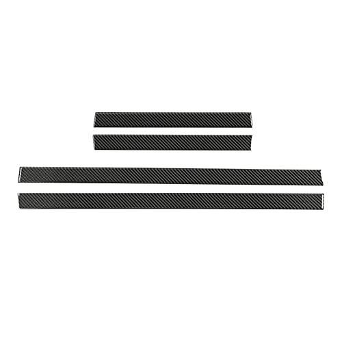 SHINEY Para los Toyota 4Runner 2010-2021 Accesorios Real de Fibra de Carbono travesaño de la Puerta Placa del Desgaste del Protector de la Cubierta
