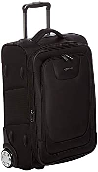 Amazon Basics Expandable Softside Carry-On Luggage Suitcase With TSA Lock And Wheels - 24 Inch Black