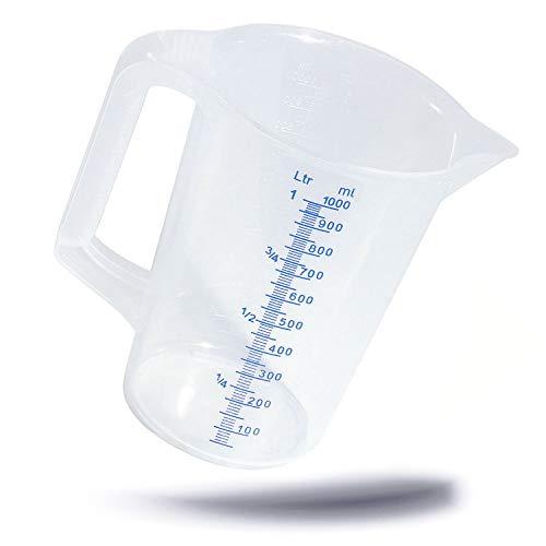 hitzeresistentes cónico Dosificador métrica Taza Vaso Medidor cerrado Mango–1,0litros
