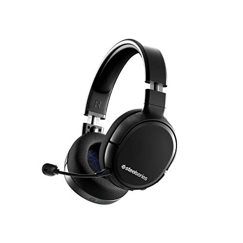 SteelSeries Arctis 1 Wireless Gaming Headset for Playstation – USB-C Wireless – Detachable ClearCast Microphone – for PS5, PS4, PC, Nintendo Switch, Android – Black