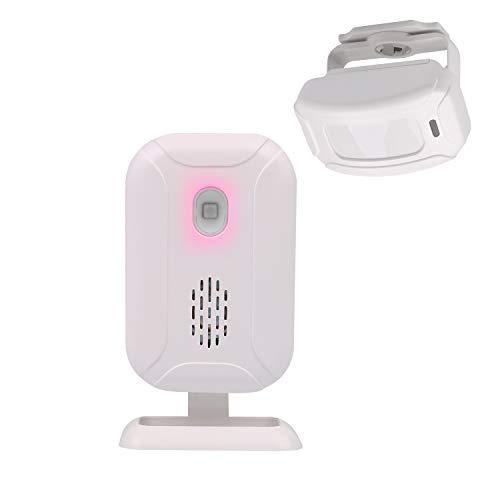 Mengshen Alarma del Sensor De Movimiento, Timbre Inalámbrico para Puerta/Entrada de La Puerta/Casa y Tienda/Buzón, Kit de Sistema de Alarma de Seguridad con 2 Sensor Y 1 Receptor - YBQ042
