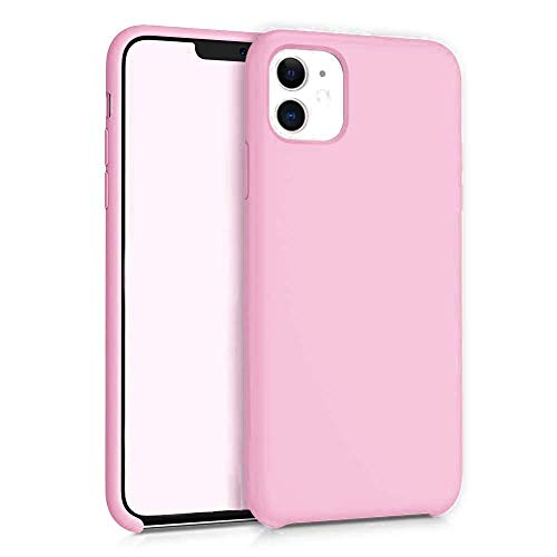 KampoStore Bubble Gum Pink Silicone Case Anti-Scratch and Shock Absorption Protective Case Compatible with The iPhone 11 6.1 Inches