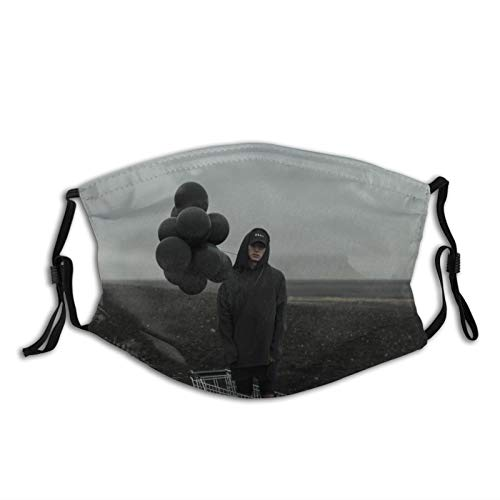 Nf The Search Adult Dust Mask Washable for Men Women Mouth Cover Soft Face Cover 1 Pcs Black