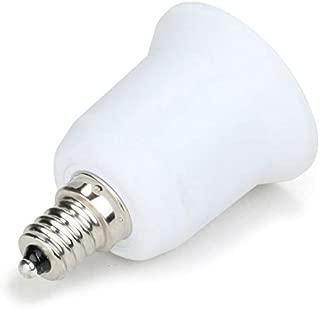 (3pcs) YiLighting - E12 Candelabra Screw to E26/E27 Standard Medium Edison Screw Base Socket Reducer Adapter Converter (E12 to E26/E27 Adapter)