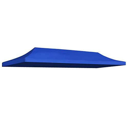 UnfadeMemory Techo de Carpa de Jardín,Repuesto para Techo de Carpa Abatible Plegable,Tela Oxford (3x6m, Azul)