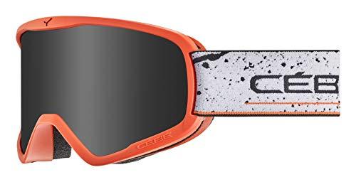 Cébé Razor L skibrillen, uniseks, volwassenen, mat oranje zwart, maat L