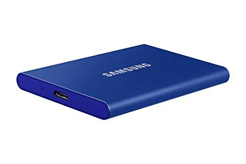 Samsung Memorie T7 MU-PC500H SSD Esterno Portatile da 500 GB, USB 3.2 Gen 2, 10 Gbps, Tipo-C, Blu