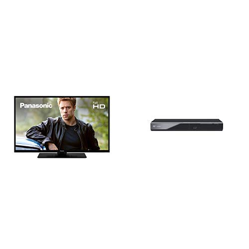 Panasonic TX-43G301B 43 inch Full HD LED TV and DVD-S700EB-K DVD Player with Scart & HDMI input
