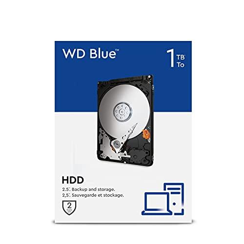 WD Blue 1TB 2.5 pulgadas Disco Duro Interno, Clase de 5400rpm, SATA 6 Gb/s, 128MB Cache