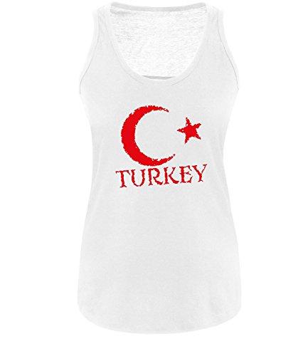 Luckja EM 2016 Trikot Türkei Fanshirt EM01 Damen Tanktop