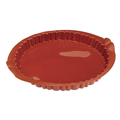 Pujadas P850.528 Moule à tarte rond avec bords cannelés Ø 28 cm Hauteur 3 cm