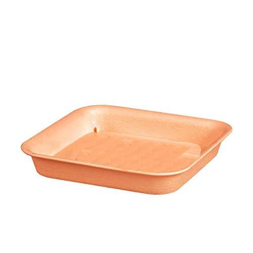 Amuzocity Platos cuadrados de plástico para plantas, bandeja para macetas: excelente para plantas de interior y exterior - XL Beige