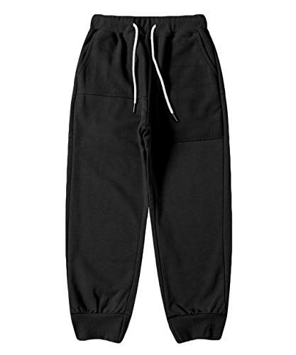 LAUSONS Pantalones Deportivos Niños Chándal Joggers Pantalón Largos Elásticos en Algodón