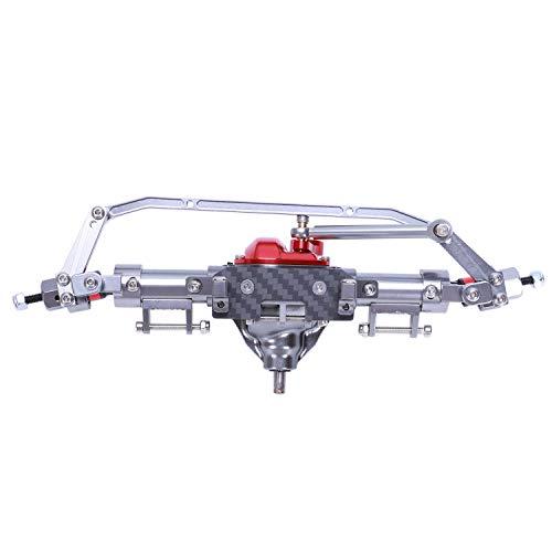Nrpfell Eje RC AleacióN Eje Recto para 1/10 RC Crawler Car Axial SCX10 90046 90047 Piezas de ActualizacióN Eje Delantero de Titanio