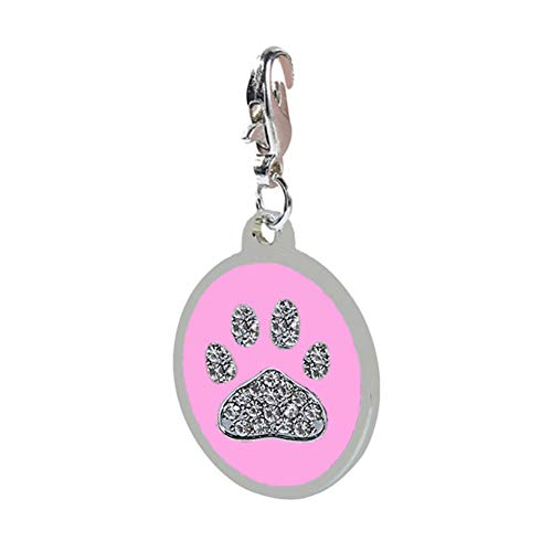 Etophigh Pet ID Tags, Mooie Klauwen Gedrukt Gegraveerde Informatie Tag Opknoping op Kraag Gepersonaliseerde hond ID Tag Katten Honden voor het voorkomen van verlies, B-rood grijs