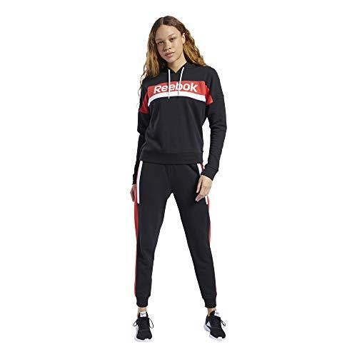 Reebok Damen Te Linear Logo Hoody Ts Sportset, Schwarz, L