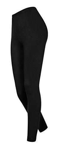 DeDavide Streetwear Pantalon Long en Coton pour Femme - Noir - Large