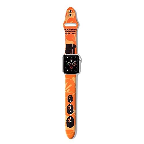 Chicya Correa de reloj profesional compatible con Apple Watch Band 44/42/40/38 mm, reemplazo para correa de reloj Iwatch Series 6 5 4 3 2 1, diseño de camuflaje de moda, iwatch 4/5/6 44mm,