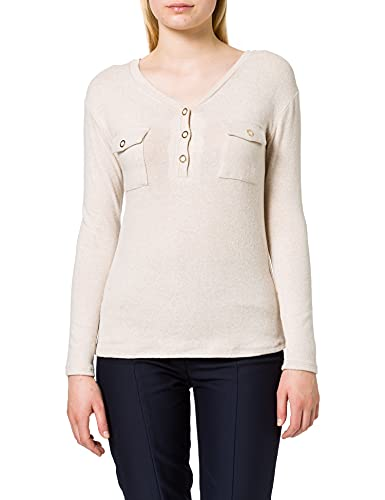 Naf Naf Odouxi T1 Camiseta, Beige Chine 83, XL para Mujer