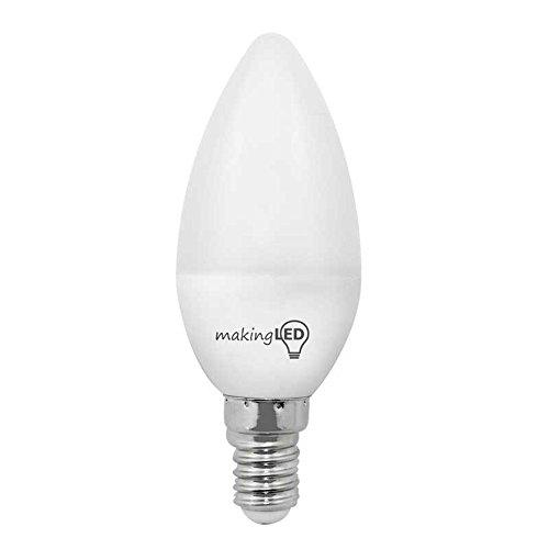 Makingled Bombilla LED E14, 4 W, Blanco, 3.7 x 9.8 cm