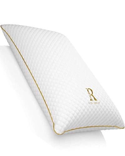 ROYAL THERAPY Queen Memory Foam Pillow,Bamboo-Adjustable Shredded Odor-Free Pillow for Neck & Shoulder Pain Relief, Support for Back, Stomach, Side Sleepers, Orthopedic Contour Pillow, CertiPUR-US